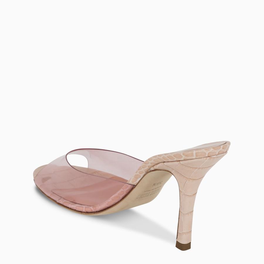 Paris Texas, Pink croc-effect leather and PVC sandals, Shoes, Woman, PX573XPVCC/I_PATEX-PO, 04